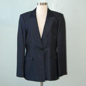 {Armani Colleziono} Navy Blue Textured Blazer 10